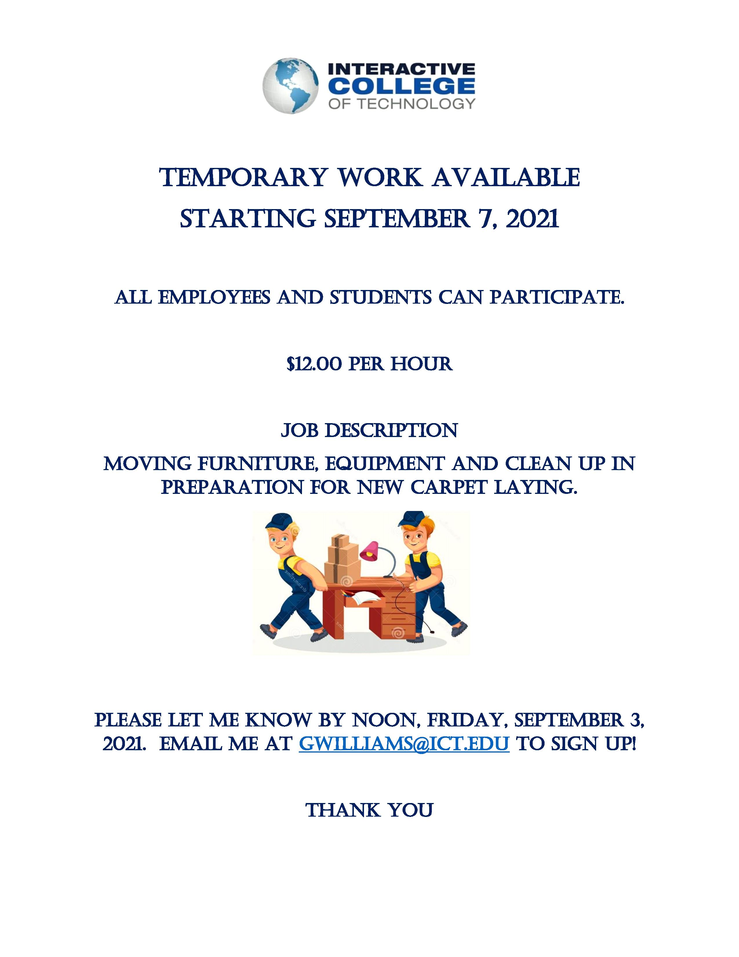 Work available